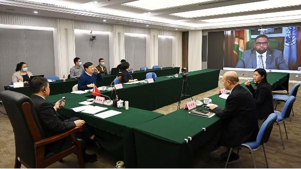 """生态环境部部长出席""""77国集团和中国""""气候变化部长级会议"""